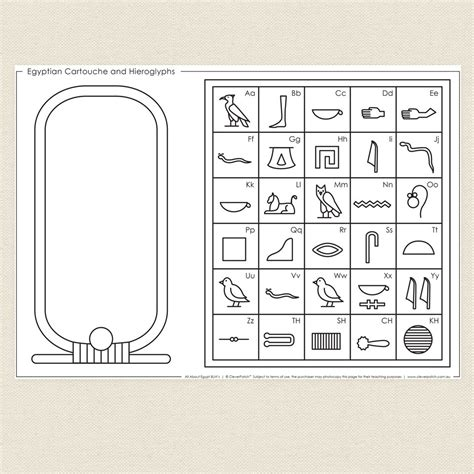 egyptian cartouche and hieroglyphs cleverpatch