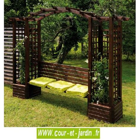 pergola avec banc de jardin pergola de jardin florence en bois avec banc