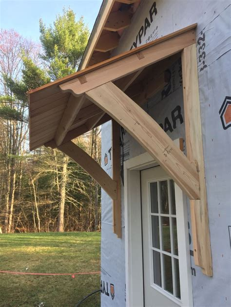 awning barn mortiseandtenon cedar porch roof door