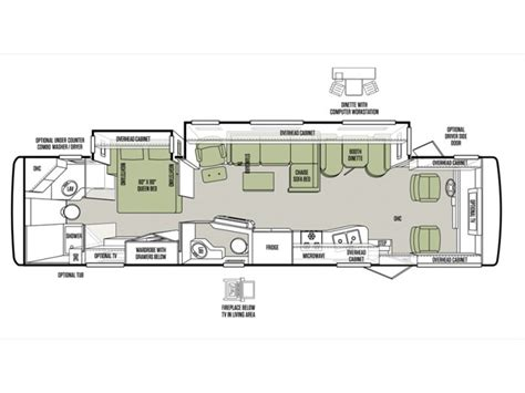 tiffin rv floor plans 2014 tiffin allegro open road 36la photos details