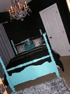 Black white teal room ideas bed frame bedroom pinterest teal