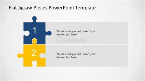 2 Steps Vertical Diagram Jigsaw Pieces Slidemodel Powerpoint Jigsaw Template 2