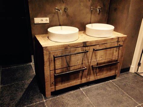 badkamermeubel hout en staal projecten raber design