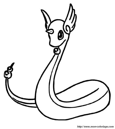 pokemon coloring pages dratini colorear pok 233 mon dibujo palabras dragonair