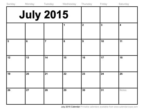 printable monthly calendar for july 2015 july 2015 calendar recherche google organisation