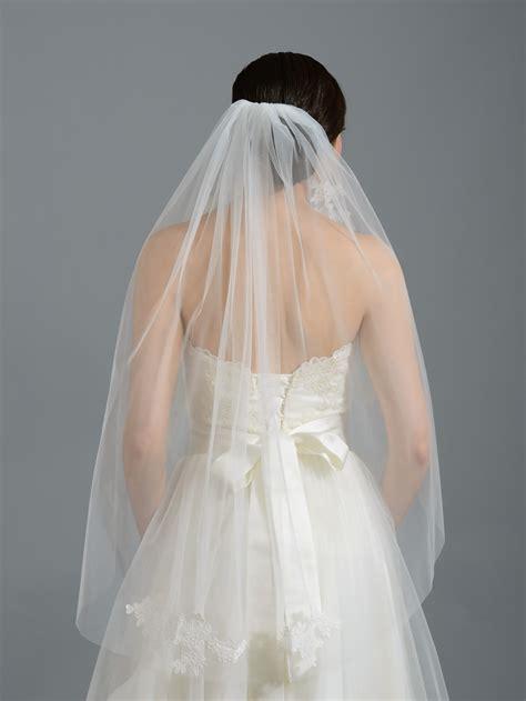 Wedding Veil by Ivory Wedding Veil V052n Alencon Lace