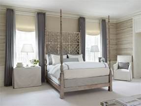 Bedroom With Grey Curtains Decor Gray And Purple Bedroom Design With With Taupe Walls And Faux Bois Wallpaper With