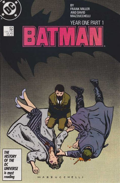 batman year one 10 most important deaths in comics