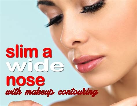 style wide nose makeup contouring makeyour wide nose look slimmer with
