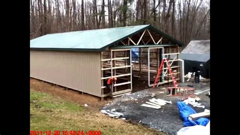 Pole Barn Floor Plans With Living Quarters by Pole Barn Construction Youtube