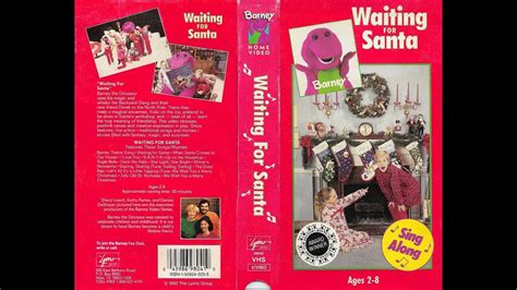 barney and the backyard gang waiting for santa barney and the backyard gang waiting for santa 1990 1993 vhs red cover edition