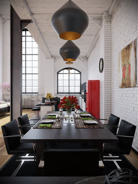 wohnzimmer accessoires industrial loft with organic traits visualized