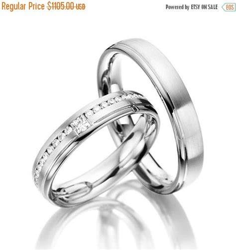 Wedding Bands On Sale by On Sale Matching Wedding Bands His And Hers With Diamonds