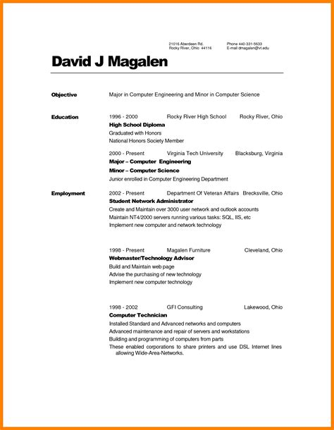 college student resume resume samples for college students and