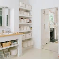 open bathroom shelves look organized open shelves in the bathroom apartment