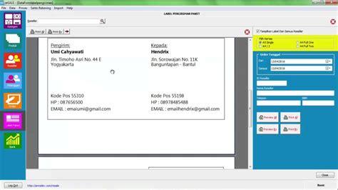 cara cepat membuat label alamat paket pengiriman resale sekretaris anda v 12