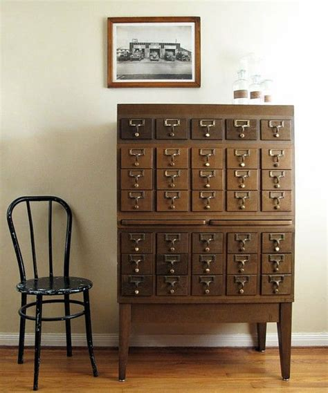 library index card cabinet 177 best images about card catalog files repurposed on