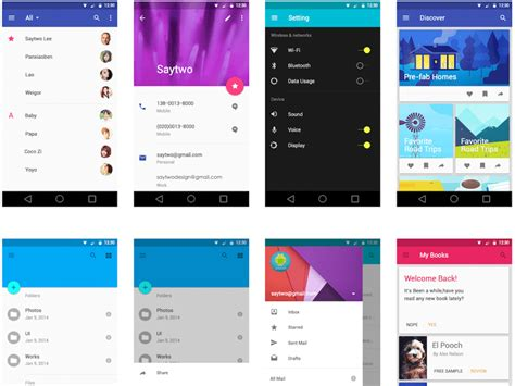 free ui templates for android android l ui kit