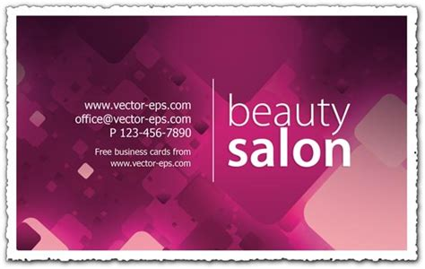 free beautician business cards templates salon business card