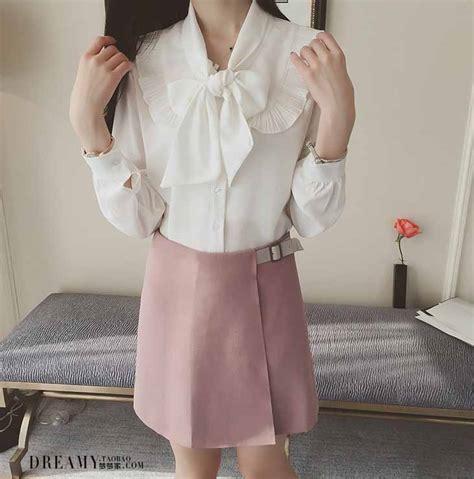Blouse Putih blouse putih pita lengan panjang 2016 model terbaru