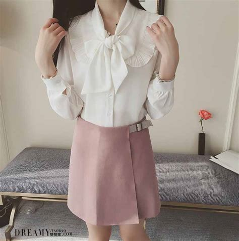 Pita Blouse blouse putih pita lengan panjang 2016 model terbaru