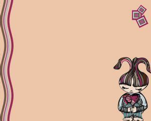 cute themes for microsoft powerpoint 2010 cute girl free power point template ppt