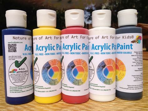 Acrylic Color buy acrylic safe artist paints for earth friendly