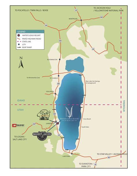 bear lake map waters edge resort  waters edge