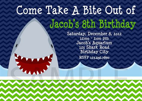 Shark Birthday Invitation Template Win A 75 Gift Certificate To The Trendy Butterfly Catch My Party