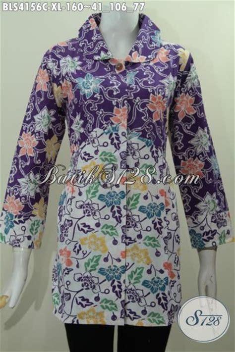 Best Seller Diving Dewasa Rok Motif batik warna ungu motif bunga kerah bulat model baju