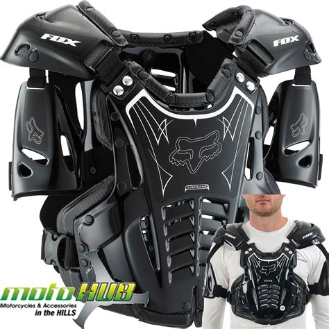 black motocross bike fox airframe black mx protective dirt bike wear gear body