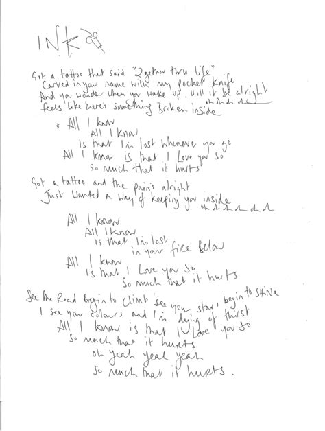 coldplay ink testo coldplay news ghost stories lyrics found the
