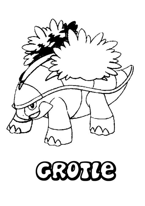 pokemon coloring pages turtwig grotle pokemon coloring pages