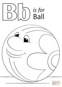 B Coloring Page