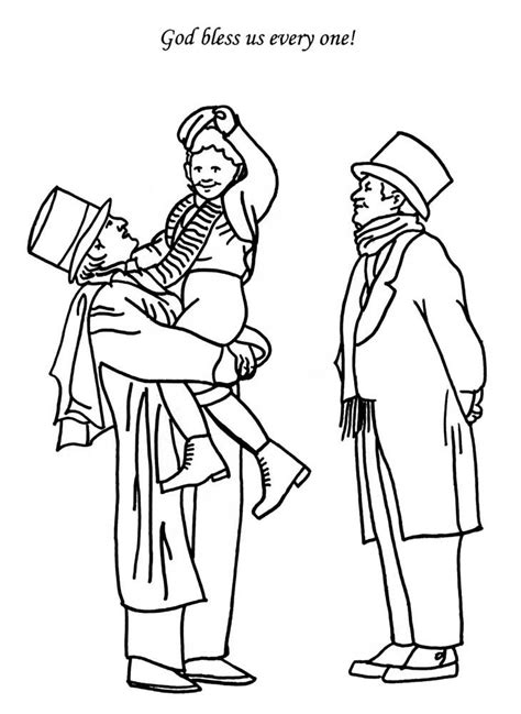 tiny color a christmas carol coloring pages coloring home