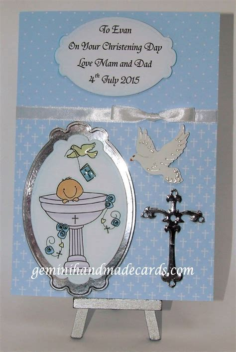 Christening cards for boys older child, young adult