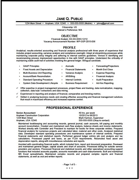 sample resume of financial analyst finance analyst resume sample
