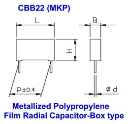 radial capacitor datasheet cbb22 datasheet polypropylene radial capacitor