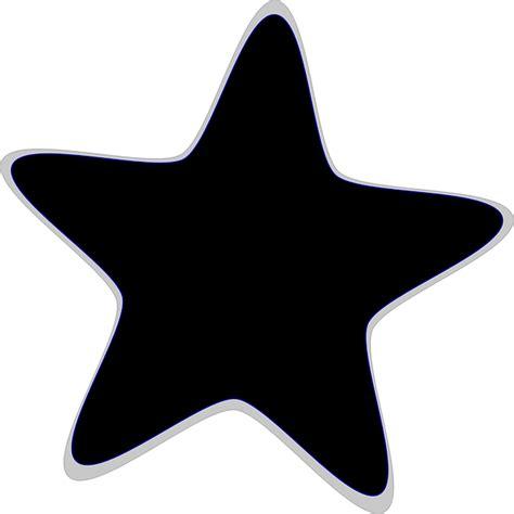 clipart bintang gambar vektor gratis bintang favorit hitam simbol