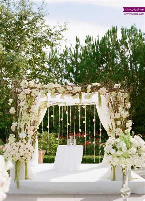 Glass Balls Chandelier زیباترین گل آرایی برای مراسم عروسی