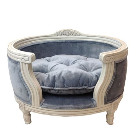 designer dog beds the george luxury designer pet bed in pile grey cuckooland