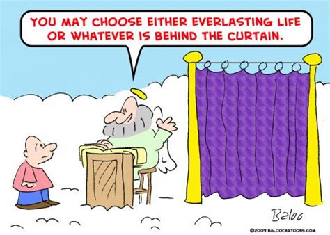 curtain jokes everlasting life curtain by rmay religion cartoon toonpool