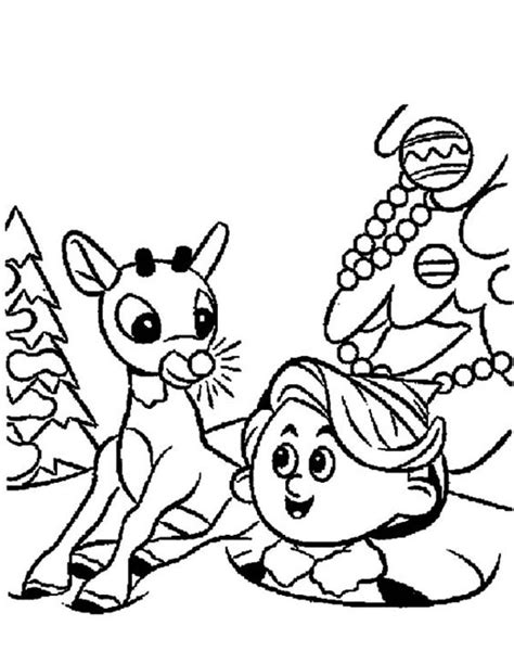 coloring pictures of santa and his elves rudolph and hermey santa elves coloring pages rudolph
