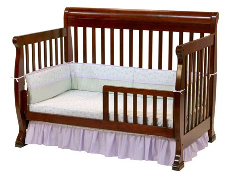 Babie Cribs Davinci Kalani 4 In 1 Convertible Baby Crib In Cherry W Toddler Rails M5501c