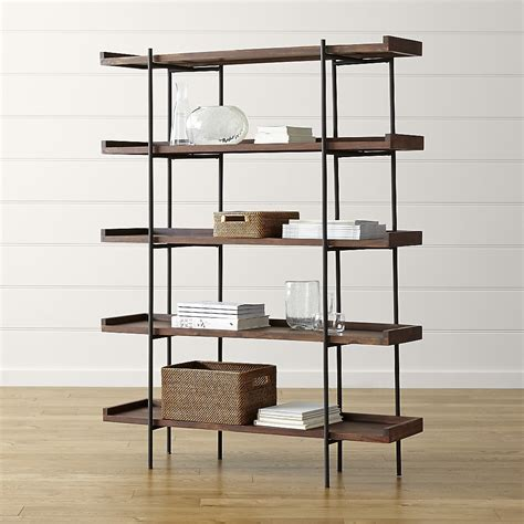 crate and barrel wall l crate barrel wall shelves