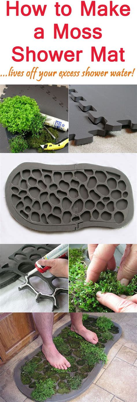 How To Make Moss Shower Mat how to make a moss shower mat