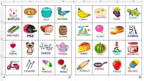 Loteria De Ninos Para Imprimir | loter 237 a para imprimir 50 cartones con sus fichas bs 3