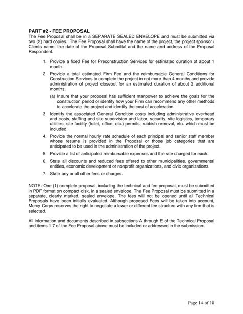 design fee proposal letter page 13 of 18 14 part 2 interior design fee proposal letter