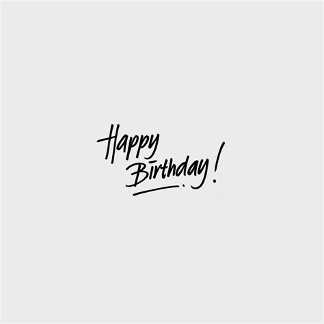 happy birthday minimal design large