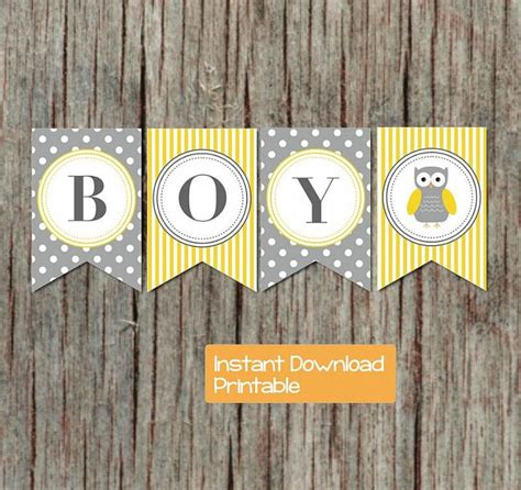 Baby Shower Banner Sayings Ideas by Yellow Grey Baby Shower Banner Owl By Bumpandbeyonddesigns